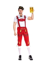 German Beer Men Red Costume