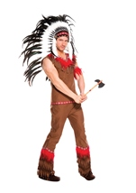 Indian Chief Men Costume