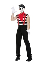 Adult Silent Mime Men Costume