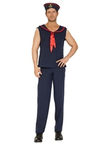 Sailor Men Navy Red Costume