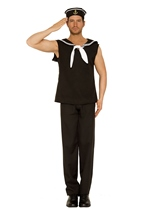 Sailor Men White Black Costume