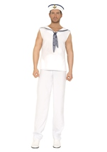 Sailor Men Navy White Costume