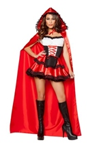 Adult Little Red Rider Woman Costume