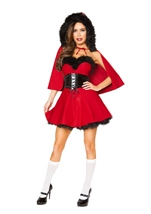 Little Red Damsel Woman Costume