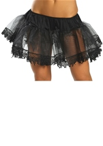 Black Tear Drop Petticoat