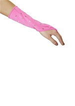 Rhinestone Gloves Hot Pink