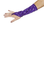 Rhinestone Gloves Purple