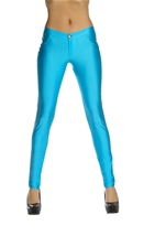 Turquoise Disco 80s Women Pants