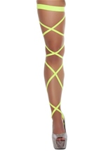 Leg Strap With Attached Thigh Garter Yellow