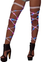 Light UP Leg Straps White Blue Pink