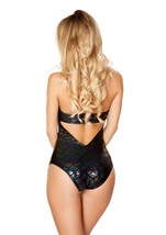 Adult Mermaid Romper Costume Black