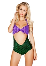 Mermaid Romper Costume Purple Green