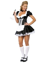 Sexy French Maid Womens Halloween Costume