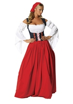 Plus Swiss Miss Wench Costume