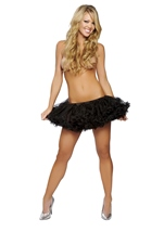 Black Mini Fluffy Women Petticoat