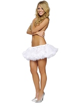 White Mini Fluffy Women Petticoat