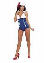 Pinup Sailor Woman Romper Costume