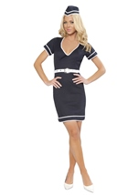 Flight Attendant Womens Costume