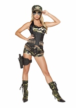 Adult Army Babe Women Costume