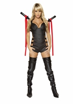 Adult Assassin Woman Warrior Ninja Costume