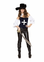 Musketeer Mistress Women Pirate Costume