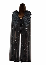 Black Rhinestone Double Layered Angel Wings