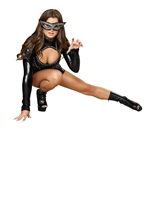 Kitty Kat Cutie Women Sexy Catwoman Halloween Costume