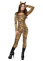 Sassy Tigress Women Deluxe Halloween Costume