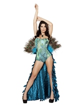 Deluxe Pretty Peacock Women Halloween Costume