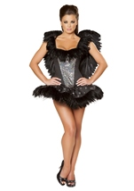 Sexy Swan Corset Women Animal Costume