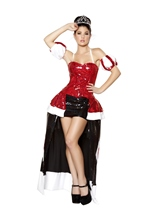 Queen Cutie Deluxe Queen Of Hearts Woman Costume