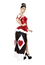 Queen Cutie Deluxe Queen Of Hearts Woman Halloween Costume