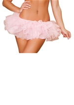 Baby Pink Fluffy Mini Ruffled Women Petticoat