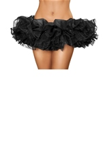 Black Fluffy Mini Ruffled Women Petticoat