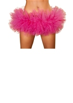 Hot Pink Fluffy Mini Ruffled Women Petticoat