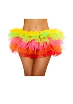 Rainbow Fluffy Mini Ruffled Women Petticoat