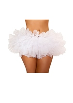 White Fluffy Mini Ruffled Women Petticoat