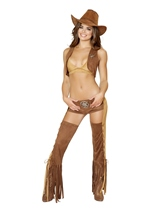 Cowgirl Western Naughty Sheriff Women Halloween Costume