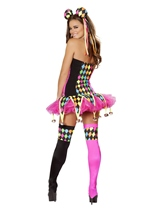 Adult Lusty Laughter Women Sexy Clown Costume