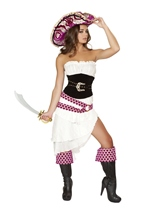 Adult Precious Pirate Woman Deluxe Costume