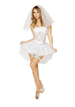 Sexy Bride Newlywed Woman Costume