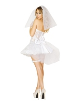 Sexy Bride Newlywed Woman Halloween Costume