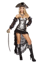 Deadly Pirate Captain Woman Costume