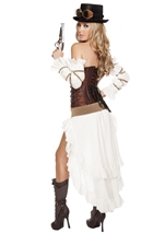 Adult Steampunk Babe Woman Deluxe Costume