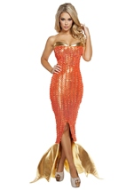 Mermaid Seductive Sea Siren Woman Costume