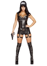 Swat Agent Woman Police Costume