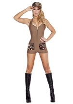 Sultry Soldier Woman Army Costume