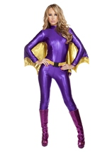 Bat Warrior Woman Catsuit Costume