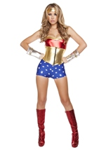 American Superheroine Woman Costume