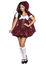 Adult Little Red Woman Divine Deluxe Costume